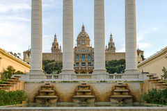 The Museu Nacional d'Art de Catalunya 1. The Museu Nacional d'Art de Catalunya is the national museum of Catalan visual art located in Barcelona, Catalonia stock photo