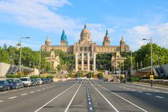 Museu Nacional d`Art de Catalunya, shoot in June 2018 stock photos
