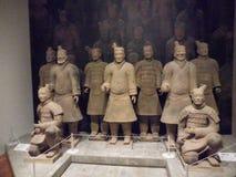 Museu Nacional da arte, Osaka, Japão O grande exército da terracota do imperador do ` s primeiro de China 5 de julho - 2 de outub Imagens de Stock Royalty Free