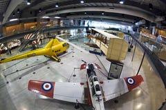 Museu nacional da força aérea de exibições dos aviões de Canadá imagem de stock royalty free