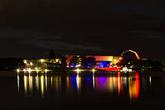 Museu Nacional de Austrália no azul, no branco e no vermelho Fotografia de Stock Royalty Free