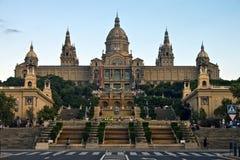 Museu Nacional em Barcelona Fotografia de Stock