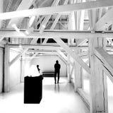 Museu Nacional letão de sombras da arte foto de stock