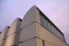 Museu no crepúsculo, Berlin Germany do arquivo do Bauhaus Foto de Stock