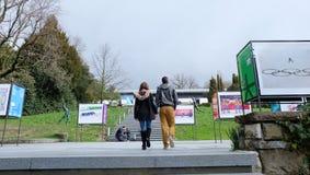 Museu olímpico em Lausana foto de stock