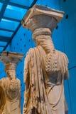 Museu original Ath da acrópole de Erechtheion do templo de ruínas das cariátides Imagem de Stock Royalty Free