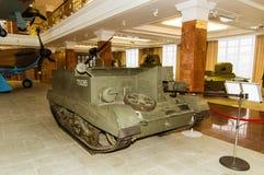 Museu retro da história militar da exibição do veículo blindado do combate, Ekaterinburg, Rússia, 05 03 2016 anos Fotos de Stock