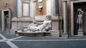 Museu Roma de Capitoline da estátua de Netuno Fotografia de Stock Royalty Free