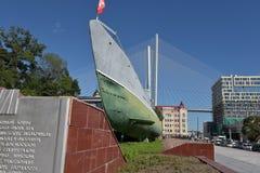 Museu submarino memorável S-56 em Vladivostok, Primorsky Krai dentro Fotos de Stock