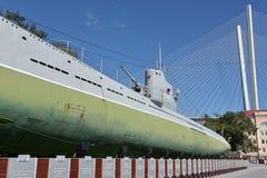 Museu submarino memorável S-56 em Vladivostok, Primorsky Krai dentro Foto de Stock