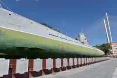 Museu submarino memorável S-56 em Vladivostok, Primorsky Krai dentro Imagem de Stock