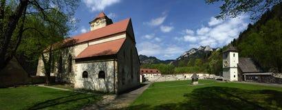 Museu vermelho do monastério, região de Spis, Eslováquia fotografia de stock royalty free