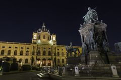 Museu Viena de Naturhistorisches foto de stock