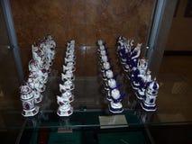 Museum Akhmat-Khadzhi Kadyrov stad Grozniy Uppsättning för Tjetjenien schackgåva royaltyfria foton