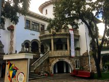 Exterior of the CIDAP Museum in Cuenca Ecuador. The museum, also known as the Inter-American Center of Popular Arts, is a remodeled Cuenca mansion that sits on Royalty Free Stock Photos