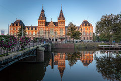 Museum Amsterdam. The Rijksmuseum is a Netherlands national museum dedicated to arts and history in Amsterdam. The museum is located at the Museum Square in the Royalty Free Stock Image