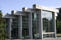 Museum of Anthropology at UBC. Has unique architectural exteriors Royalty Free Stock Image
