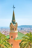 Museum of Antoni Gaudi in park Guell Stock Photos