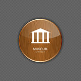 Museum application icons vector illustration Stock Photography