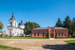 Museum of Archaeology and Orthodox Church of the Ascension - Bat. Baturin, Ukraine - August 29, 2016: Museum of Archaeology and Orthodox Church of the Ascension Royalty Free Stock Image