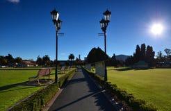 Museum of Art and History, Rotorua. New Zelandiya.Park. Royalty Free Stock Photography