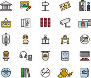 Museum and art icons Stock Photos