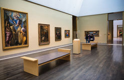 Museum of art. Interior of the Museum of Fine Arts, Houston one of the larger art museums in the United States Royalty Free Stock Photography