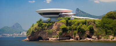 Museum of Art in Niteroi city Royalty Free Stock Photos