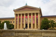 Museum of art philadelphia in united states. Museum of art philadelphia united states Stock Photography