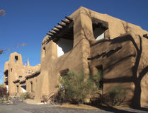 Museum of Art in Santa Fe. New Mexico with adobe style architecture Stock Photo