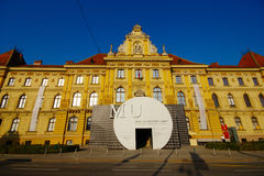 Museum of Arts and Crafts. Building of Museum of Arts and Crafts (MUO) in Zagreb royalty free stock photo