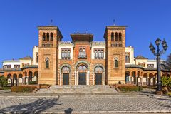 Museum of Arts and Traditions in Sevilla. Museum of Arts and Traditions of Sevilla in Mudejar pavilion, Maria Luisa Park, Sevilla, Spain Stock Photography