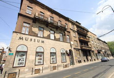 Museum of Assassination of Franz Ferdinand. On May 4, 2013 in Sarajevo, Bosnia. This is where Ferdinand of Austria was murdered in 1914 and the event triggered stock photo