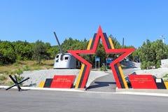 Museum auf dem Kap des Schaums in der Bucht Tsemess die Zeit des Kampfes für Novorossiysk gegen die deutschen Truppen stockfotos