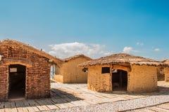 Museum auf wasser- Bucht der Knochen - Ohrid, Mazedonien Stockbilder