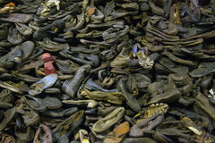 Free Museum Auschwitz - Holocaust Memorial Museum. Stacks Of Shoes Belonging To Prisoners Of The Camp.Museum Auschwitz - Holocaust Memo Stock Photo - 96268850