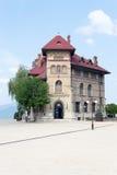 Museum av Aeneolithic konst av Cucuteni, Piatra Neamt, Neamt län, Rumänien royaltyfria foton