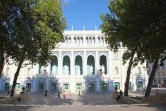 _ _ Museum av Azerbajdzjan litteratur som namnges efter Nizami Royaltyfria Foton