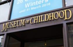 Museum av barndom i Edinburg Arkivfoto