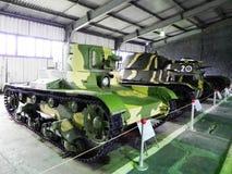Museum av beh?llare och bepansrade vapen Museum tilldelat till milit?r utrustning och teknologi Detaljer och n?rbild royaltyfri bild