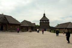 Museum av de Zaporozhye kosackarna royaltyfri bild