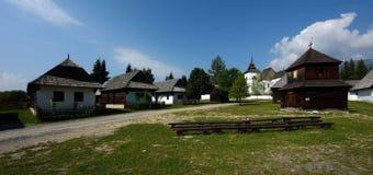 Museum av den Liptov byn, Pribylina, Slovakien Arkivbilder