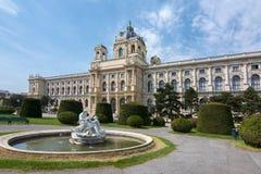 Museum av det Art History Kunsthistorisches museet på den Maria Theresa fyrkanten Maria-Theresien-Platz i Wien, Österrike arkivbilder