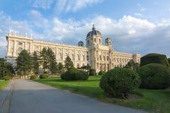 Museum av det Art History Kunsthistorisches museet på den Maria Theresa fyrkanten Maria-Theresien-Platz i Wien, Österrike arkivfoto