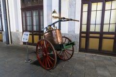 Museum av drevMadrid utläggning av utrustning för service för järnväg utrustning och historia av utveckling fotografering för bildbyråer