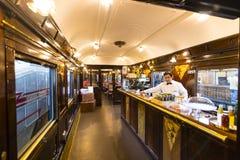 Museum av drevMadrid utläggning av utrustning för service för järnväg utrustning och historia av utveckling royaltyfria bilder
