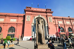 Museum av egyptiska forntider - Kairo, Egypten Royaltyfri Foto