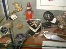 Museum av gamla sportbilar Arkivbilder