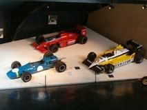 Museum av gamla sportbilar, formel 1 Arkivfoto