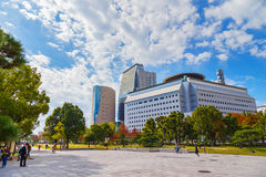 Museum av historia i Osaka, Japan royaltyfria bilder